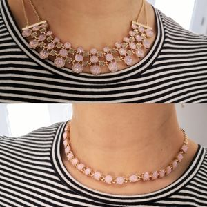 Jewelry - Pink and Gold fashion necklace bundle